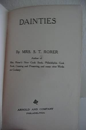 Dainties: Rorer, Mrs. S.T.