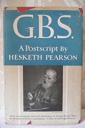 G.B.S. A Postscript: Pearson, Hesketh