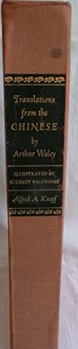 Translations from the Chinese: Waley, Arthur
