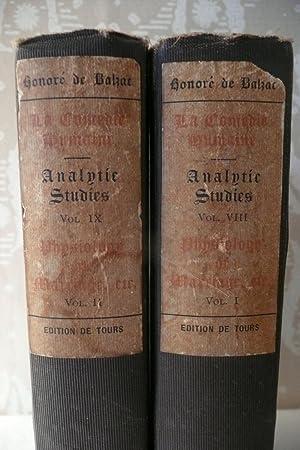 Analytic Studies, volumes Xlll and lX: Balzac, Honore de