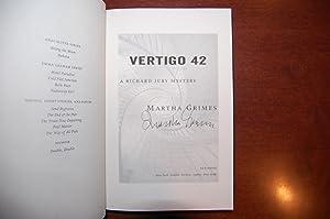 Vertigo 42 (signed, review copy): Grimes, Martha