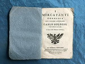 I mercatanti commedia del signor avvocato Carlo: Goldoni, Carlo