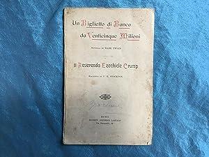 Un biglietto di Banca da venticinque milioni: Twain, Mark
