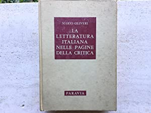 La letteratura italiana nelle pagine della critica.: Oliveri, Mario