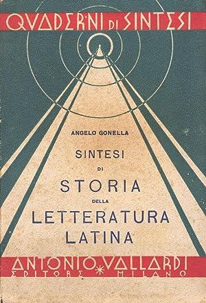 Sintesi di storia della letteratura latina per: Gonella, Angelo