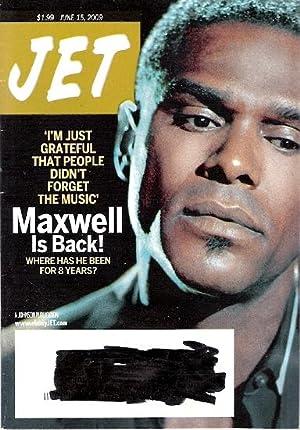 Jet Magazine June 15, 2009 Singer Maxwell: Jet Magazine