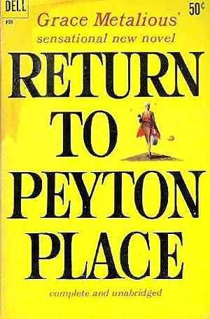 Return to Peyton Place: Metalious, Grace