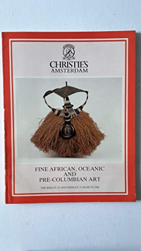 FINE AFRICAN OCEANIC AND PRE COLUMBIAN ART