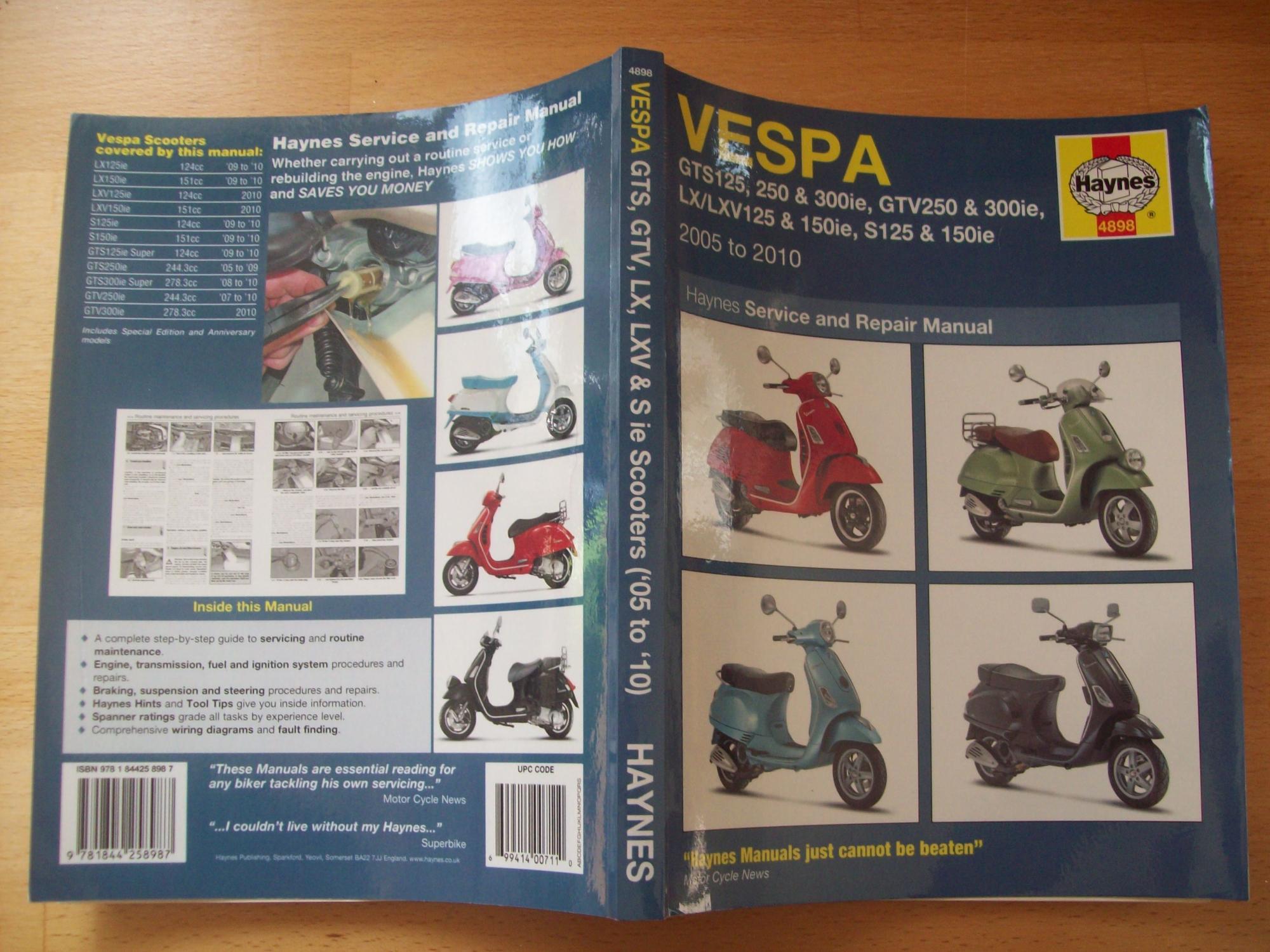 Vespa GTS/GTV, LV/LXV & S, 125, 250 & 300: 2005-2010 (Haynes ... on