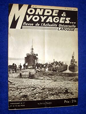 Monde et Voyages. No 67, 1er Octobre: Various