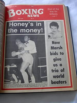 Boxing News, 1987 Jan 2 to June 26. (all 26 issues bound.)