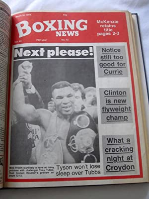 Boxing News, 1988 Jan 1 to July 1. (26 of 27 issues bound.)