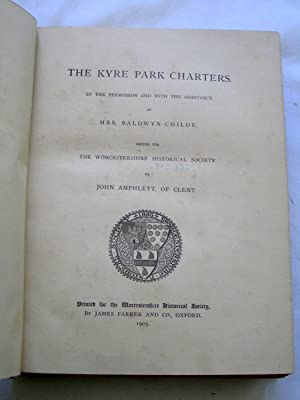 The Kyre Park Charters (1905), Diary of Francis Evans, Secretary to Bishop Lloyd, 1699 - 1706 (1903...