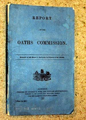 REPORT of The OATHS COMMISSION, 1867.