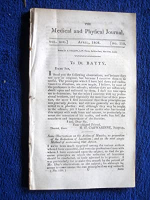 The Medical and Physical Journal, 1808, April Pemphigus Gangranosus, Cataracts, Worms, Sea-Sickness...