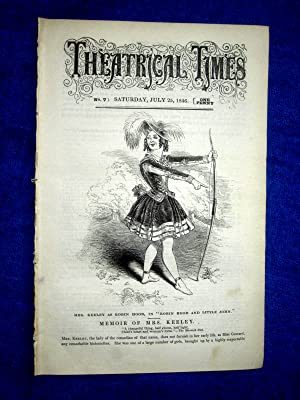 Theatrical Times, No 7, July 25 1846. Lead Article & Picture - Memoir of Mrs Keeley ( Goward.) ...