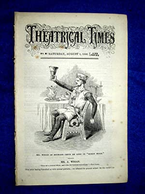 Theatrical Times, No 8, August 1 1846. Cover Picture Mr A. Wigan. Weekly Magazine.: S. Grieves Jun,