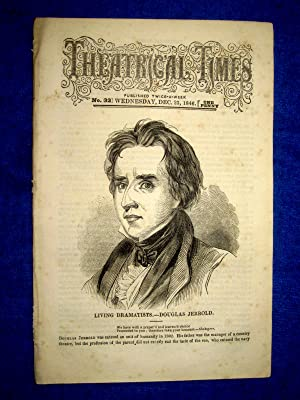 Theatrical Times, No 32. December 23, 1846. Cover Picture & Lead Article DOUGLAS JERROLD Living...