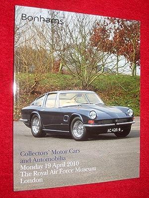 Collectors Motor Cars and Automobilia 19 April: Bonhams
