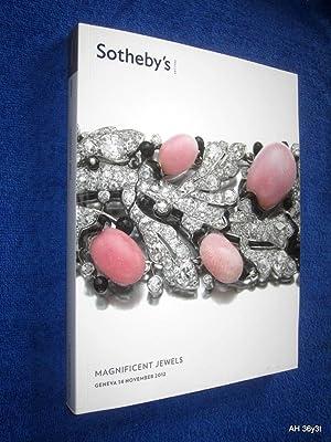 Magnificent Jewels. GE1205. 14 November 2012, Sotheby's Geneva Auction Sale Catalogue. + ...