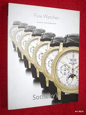 Fine Watches, London 18 December 2008, L08881, Sotheby's Auction Sale Catalogue. + Separate ...