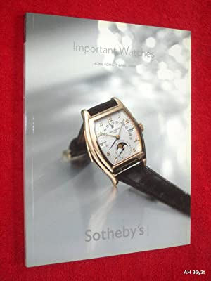 Important Watches, Hong Kong, 7 April 2009., HK0299. Sotheby's Auction Sale Catalogue. + ...