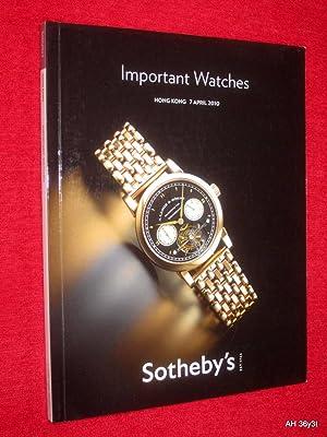 Important Watches, Hong Kong, 7 April 2010., HK0321. Sotheby's Auction Sale Catalogue. + ...