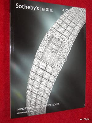 Important Modern Watches, Hong Kong, 28 May 2013., HK0450. Sotheby's Auction Sale Catalogue. +...