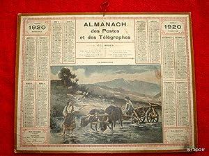 Almanach Des Postes et des Telegraphes, Calendrier, 1920. Avec Carte Postale Télé...