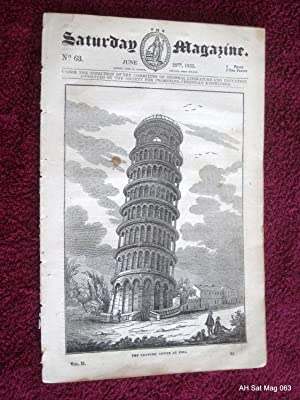 The Saturday Magazine No 63, LEANING TOWER of PISA, HOT-AIR BALLOONS, 1833: John William Parker, ...