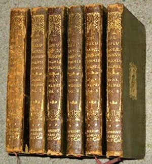 The Life of Samuel Johnson By James Boswell, Temple Classics Six Leather Bound Volumes: James ...