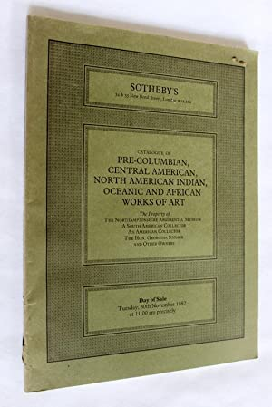 Catalogue of Pre Columbian, Central American, North: Sotheby & Co.