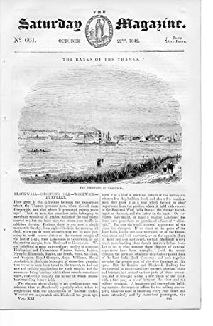 The Saturday Magazine No 661, OCTOBER 1842 including BLACKWALL, SHOOTER'S HILL, WOOLWICH, ...