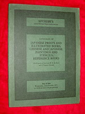 Catalogue of Japanese Prints and Illustrated Books,: Sotheby Parke Bernet,