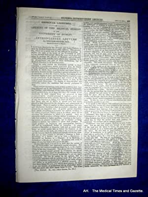 The Medical Times and Gazette. 17 November 1855, No. 842.: Various.