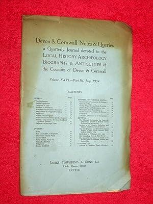Devon & Cornwall Notes & Queries, Vol: Devon and Cornwall