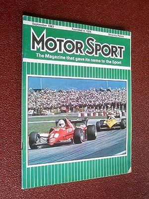 MotorSport Magazine, September 1983, Motor Sport Incorporating