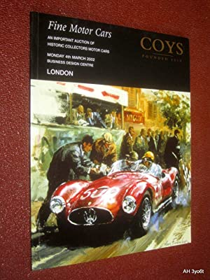 Fine Motor Cars, An Important Auction of: Coys of Kensington,