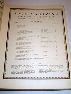 S. M. T. Magazine and Scottish Country Life, Vol XIX July to December 1937. Scotland's ...