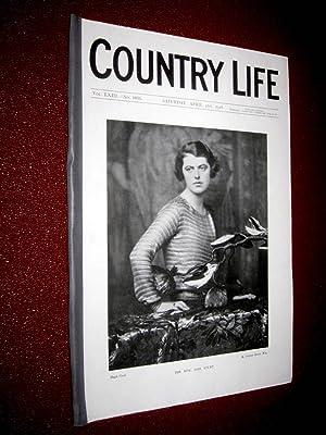 Country Life. No 1631, 21 April 1928, The Hon. Lois Sturt, The Grosvenor Estate London, New Tyne ...