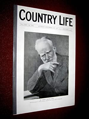 Country Life. No 1652 15th September 1928, George Bernard Shaw (cover portrait), Melton Constable (...