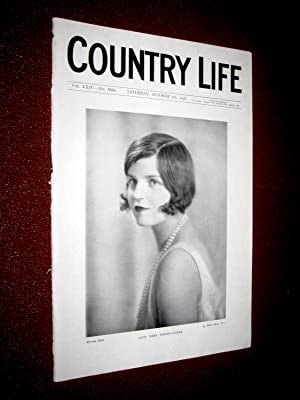 Country Life. No 1655, 6th October 1928, Lady Mary Ashley-Cooper, Chettle House Dorset, Gun Dog ...