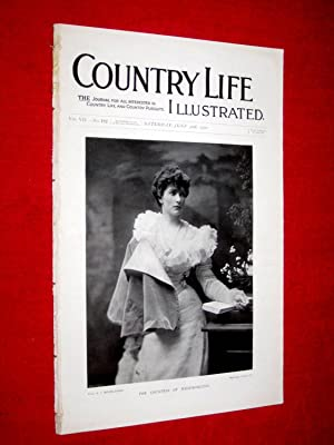 Country Life. No. 182. 30th June 1900. The Countess of Westmorland, Chatsworth (pt 2), Hampton ...