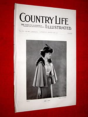 Country Life. No. 168, 24th March 1900. Mrs Cust, Forde Abbey Chard, Moreton Corbet Castle, Big ...