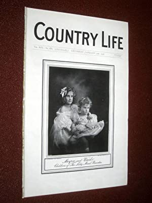 Country Life Magazine No. 471, 13th January 1906. Moyra & Enid Children of Lady Maud Ramsden, ...