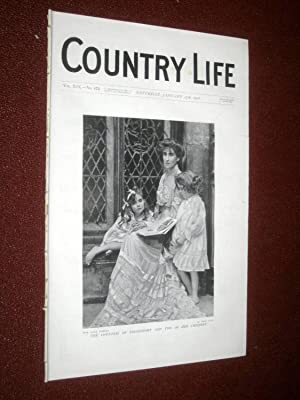 Country Life Magazine No. 473, 27th January 1906. Countess of Stradbroke and Her Children, Ragdale ...