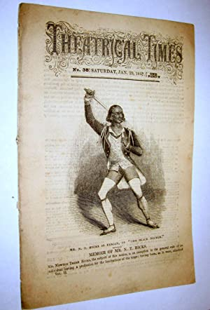 Theatrical Times, Weekly Magazine. No 38. January 23, 1847. Lead Article & Picture - Memoir of ...