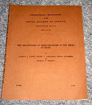 Philosophical Transactions of the Royal Society of London. The Relationship of Micro-Organism to ...