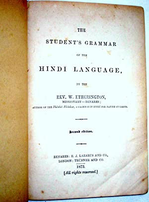 The Student's Grammar of the Hindí Language: Etherington, William