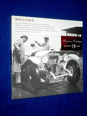 A Sale of Important Collectors Motorcars, Historic: Brooks, Robert.